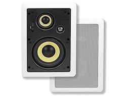 Monoprice Caliber In Wall Speakers 6.5 Inch Fiber 3-Way  - 1