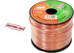 100ft 18 ga gauge speaker wire audio