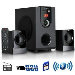 beFree Sound 2.1 Channel Surround Sound Bluetooth Speaker Sy