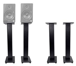 "2 Rockville RHTSB 36"" Inch Bookshelf Speaker Stands Surround"