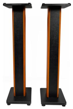 "2) Rockville RHTSC 36"" Inch Bookshelf Speaker Stands Surroun"