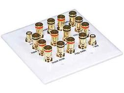 Monoprice 106707 7.2 Surround Sound Distribution Wall Plate,