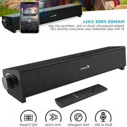 FOXNOVO 20W 3D Sound Surround Sound Bar Speaker Subwoofer fo