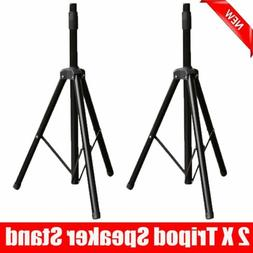 2PCS Portable Heavy Duty Tripod DJ PA Speaker Stands Adjusta