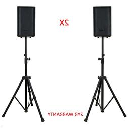 2X Speaker Stands Heavy Duty Adjustable Studio Monitor Pair