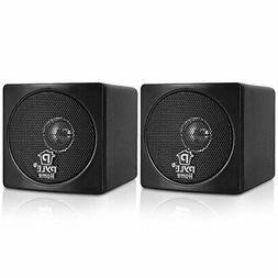 "3"" Mini Cube Small Bookshelf Speakers - 100W Paper Cone Driv"
