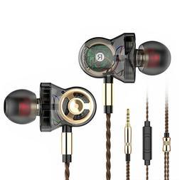 3DD Dynamic Headphone 6 Speaker Heavy Bass Earphone Hifi Sur