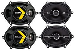 "4) Kicker 43DSC6804 D-Series 6x8"" 200 Watt 2-Way 4-Ohm Car C"