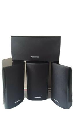 4 ONKYO Model SKR-670 Surround Sound Speakers Black- Works G