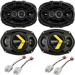 "Kicker 41DSC693 D-Series Coaxial 3-Way Speaker with 1/2"" Twe"