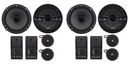 "2-Pairs Kicker 44KSS6504 6.5"" 250 Watt Car Audio Component S"