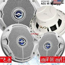 """4x JBL MS6520 180 Watt MS 6.5"""" 2-Way Coaxial Marine Audio Sp"""