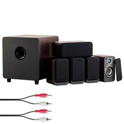 5.1 Channel Home Theater Speaker System Surround Sound Power