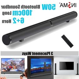 50W 100cm HiFi Detachable Wireless bluetooth Soundbar <font>