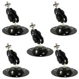 5xBlack Universal Sound Speaker Microphone Holder Stands Fee