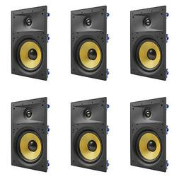 """6 Pack - TDX 8"""" 2-Way In Wall Home Theater Surround Sound Sp"""