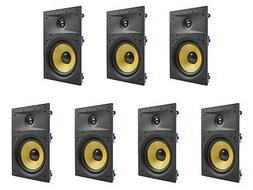 """7 Pack - TDX 6.5"""" 2-Way In Wall Home Theater Surround Sound"""
