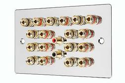 9.2 Surround Sound Audio Speaker Wall Face Plate Chrome NO S