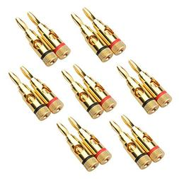 Cable Matters 7 Pairs, Open Screw Banana Plugs for Speaker C