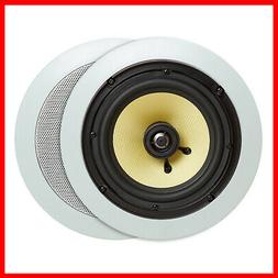 """Cmple - 6.5"""" Surround Sound 2-Way In-Wall/In-Ceiling Kevlar"""