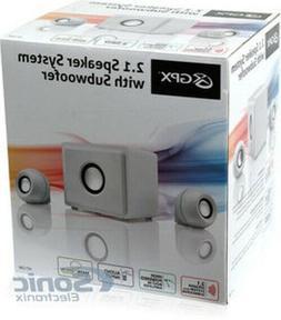 GPX HT12W 2.1 Channel Home Theater Speaker System, 3 Speaker