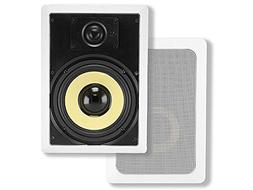 Monoprice 6-1/2-inch Kevlar 2-Way In-Wall Speakers  - 60W No