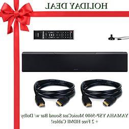 Yamaha YSP-5600 MusicCast Wi-Fi Soundbar - Black + 2 Free HD