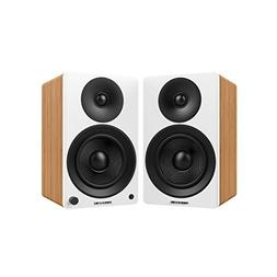 "Fluance Ai40W Powered Two-Way 5"" 2.0 Bookshelf Speakers with"