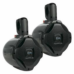 Lanzar AQAWBPR65BK Dual 6.5 Bt Marine Wakeboard Speakers