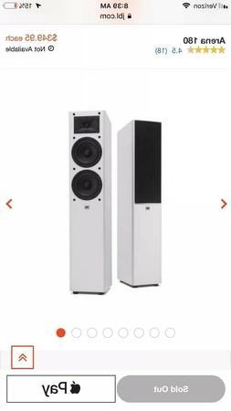 JBL Arena 180 Tower Surround Sound Speakers - Piano White