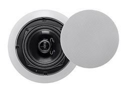 Monoprice Aria Ceiling Speakers 5.25 inch Polypropylene 2-Wa