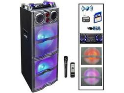 BeFree Sound BFS-5501 Double Subwoofer Bluetooth Portable Pa
