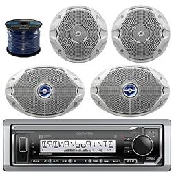 Kenwood Bluetooth Radio KMRM315BT In-Dash Marine Audio Recei