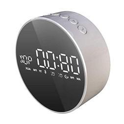 ANSCIO Bluetooth Speaker Mini Alarm Clock Speaker Home Porta