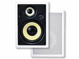 Monoprice Caliber In Wall Speakers 8 Inch Fiber 3-Way  - 106