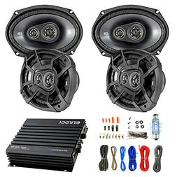 "Car Speaker And Amp Combo: 4x Kicker 43CSC6934 900-Watt 6"" x"