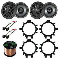"Car Speaker Bundle Combo: 2 Pairs of Kicker 40CS654 6.5"" Inc"