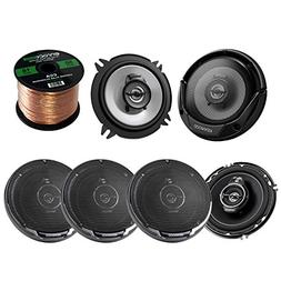 "3 Pairs Car Speaker Package Of 2x Kenwood KFC-1365S 5-1/4"" 2"