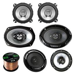 "3 Pair Car Speaker Package Of 2x Kenwood KFCC1355S 5 1/4"" 25"