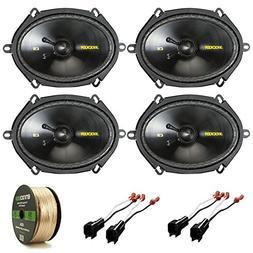 """Car Speaker Package Of 4x Kicker 40CSS684 6x8"""" Inch 550-Watt"""