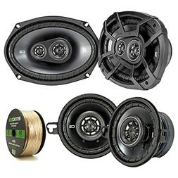 2 Pair Car Speaker Package Of 2x Kicker CSC354 180-Watt 3.5""