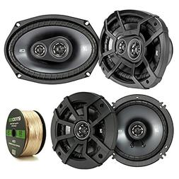 2 Pair Car Speaker Package Of 2x Kicker CSC654 600-Watt 6.5""