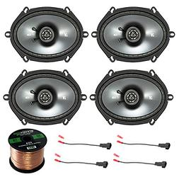 "Car Speaker Set Combo Of 4 Kicker 40CS684 6x8"" Inch 450W 2-W"
