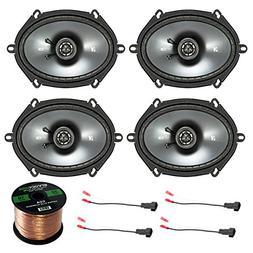 """Car Speaker Set Combo Of 4 Kicker 40CS684 6x8"""" Inch 450W 2-W"""