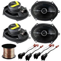 Car Speaker Set Combo of 4 Kicker 6x8 inch 400W 2-Way Car Co