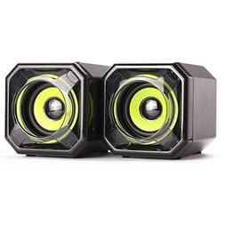 WESDAR Computer Speakers, 3.5mm USB Powered Subwoofer PC Spe