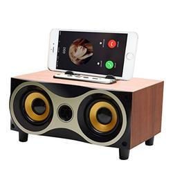 Desktop Portable Wooden Wireless Bluetooth Surround Sound Sp