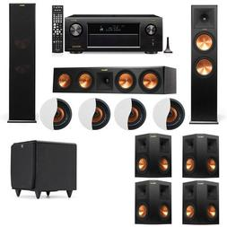 Dolby Atmos 7.1.4 Klipsch RP-280F Tower Speakers SDS12 with