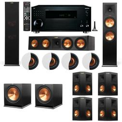 Dolby Atmos 7.2.4 Klipsch RP-280F Tower Speakers R115SW with