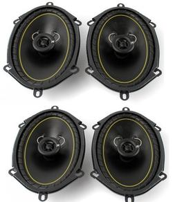"2 Pairs KICKER DS68 6x8"" 2-Way Coaxial Car Audio Speakers 28"